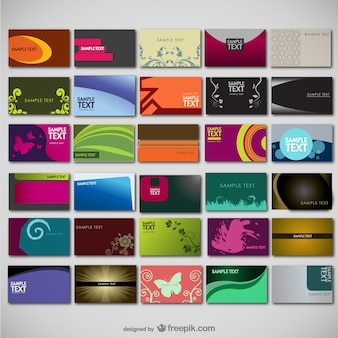 Large collection of card templates Free Vector