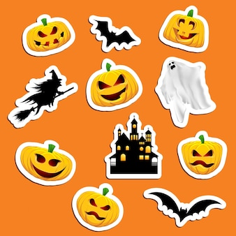 Large collection of halloween themed stickers