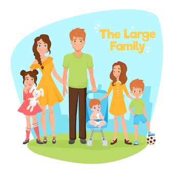 Large family illustration
