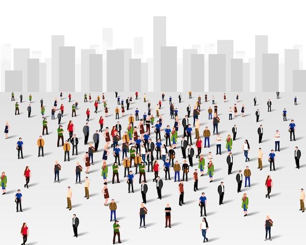 街中の大勢の人々