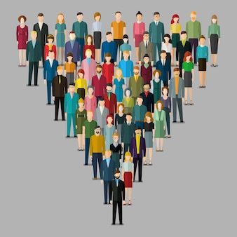 Large group of people flat design illustration