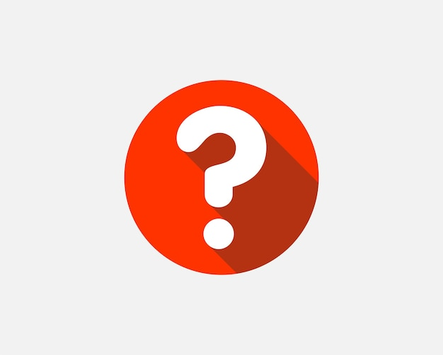 Large question mark. searching for answer. vector illustration.