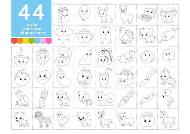 A large set of coloring books for children pages for coloring christmas summer animals