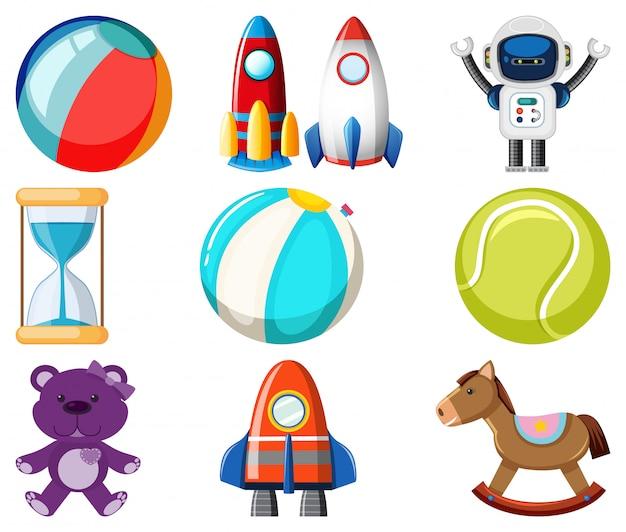 Большой набор разных игрушек