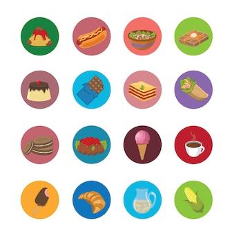 Большой набор иконок еды