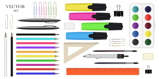 Large set of stationery
