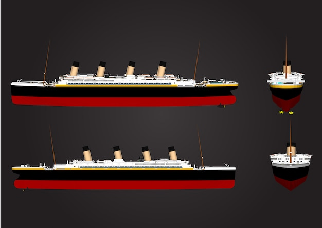 Large ship vector for travel