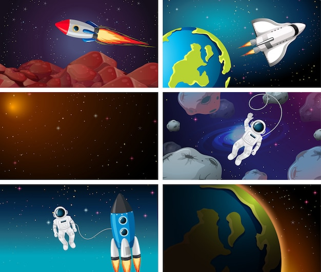 Large space background scene or background