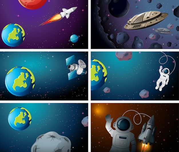 Large space background scenes