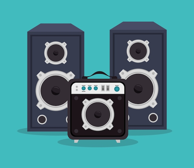 Large speakers isolated icon