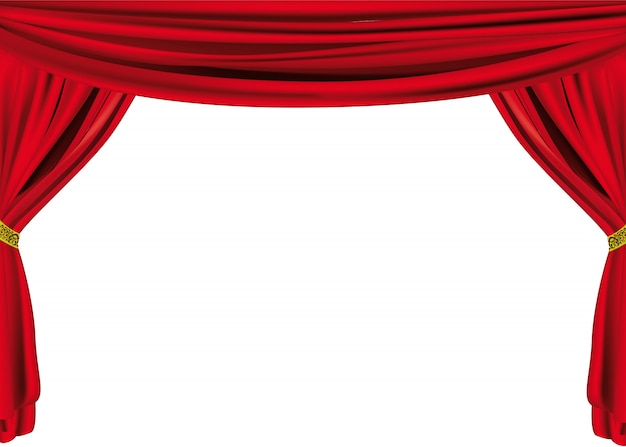 Large theater curtain