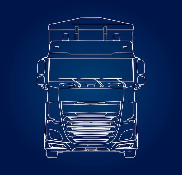 農業用および建築用バルク材料の輸送用の独立したトレーラー付き大型トラック
