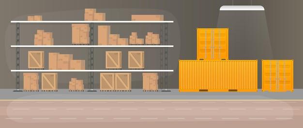 引き出し付きの大きな倉庫