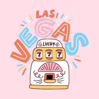 Las vegas theme with lettering