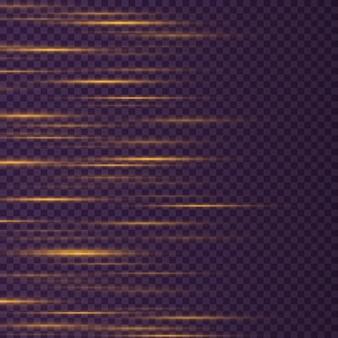 Laser beams horizontal light rays beautiful light flares