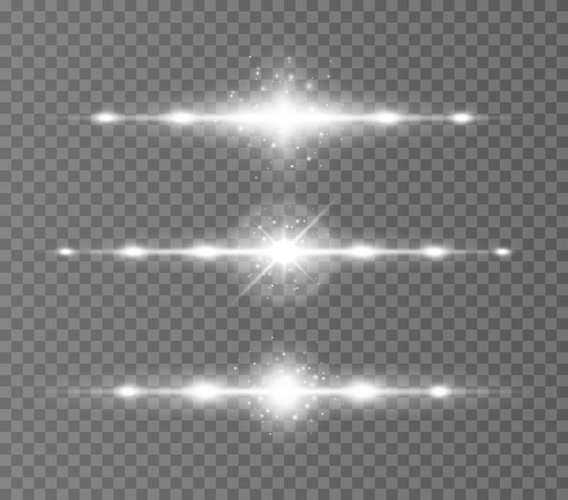 투명에 수평 광선 레이저 빔