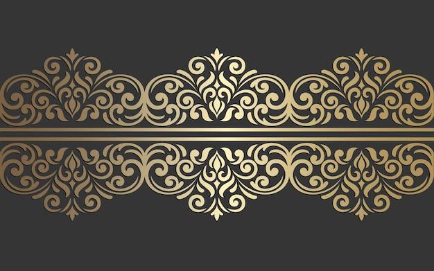 レーザーカットのボーダーデザイン。レーザー切断、ステンドグラス、ガラスエッチング、サンドブラスト、木彫り、カード製造、結婚式の招待状の華やかなビンテージベクトル境界線テンプレート。