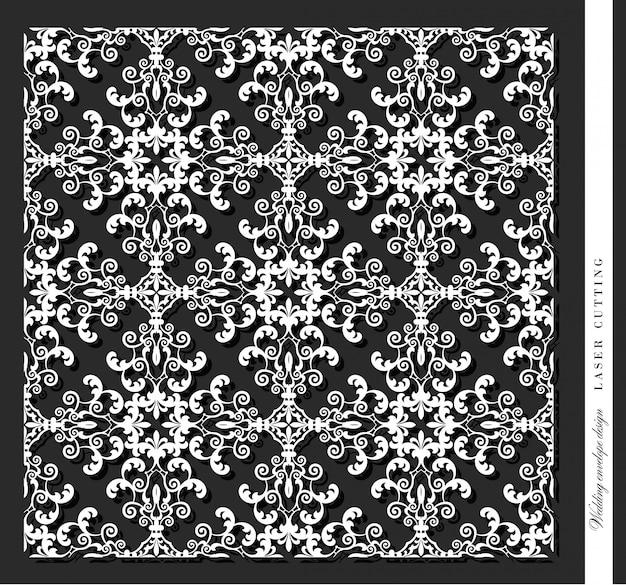 Laser cut decorative panel. damask.