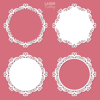 Laser cut frame collection with swirls and hearts