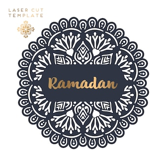 Laser cut islamic pattern