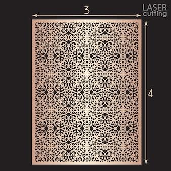 Лазерная резка декоративная панель с рисунком, шаблон для резки. металлический дизайн, резьба по дереву.