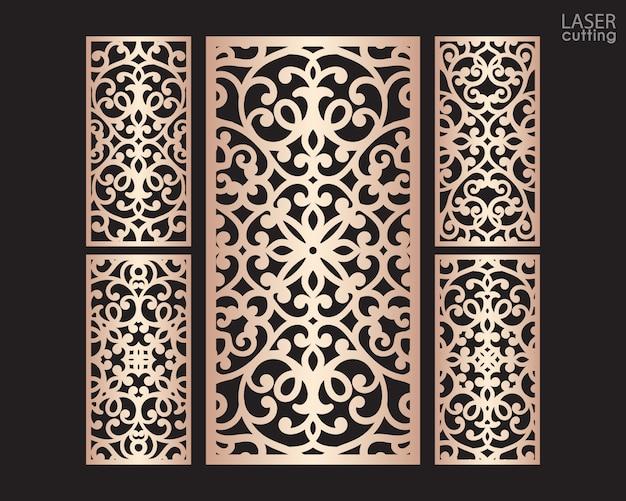 Лазерная резка декоративных панелей с рисунком, шаблон для резки. металлический дизайн, резьба по дереву.