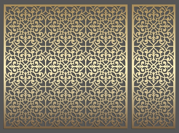 Laser cut panel design. ornate repeating vintage vector border template for laser cutting, stained glass, glass etching, sandblasting, wood carving, cardmaking, wedding invitations.
