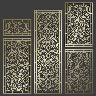 Laser cut panel design. ornate vintage border template for laser cutting, stained glass, glass etching, sandblasting, wood carving, cardmaking.