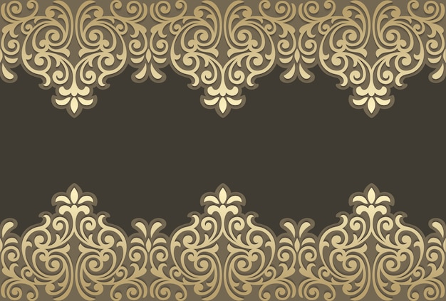 Laser cut panel design. ornate vintage border template.