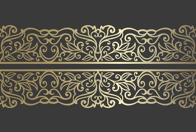 Laser cut panel design. ornate vintage vector border template for laser cutting, stained glass, glass etching, sandblasting, wood carving, cardmaking.