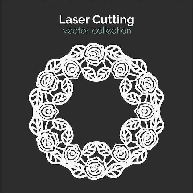 Шаблон лазерной резки. Premium векторы