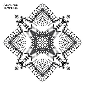 Лазерная резка мандалы