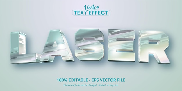 Laser editable text effect