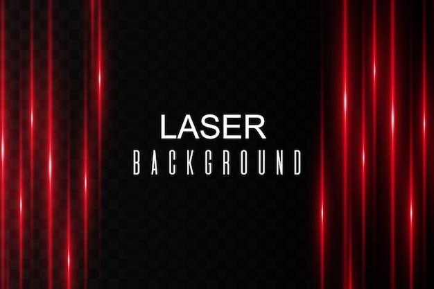 レーザーフレア。レーザー水平ビーム、光線。暗い背景に明るいストライプ。