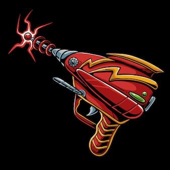 Laser gun cartoon illustration