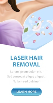 Laser hair removal, armpit epilation skin care