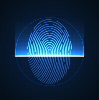 디지털 생체 인식 보안 기술의 지문 레이저 스캐닝 낮은 폴리 와이어 개요
