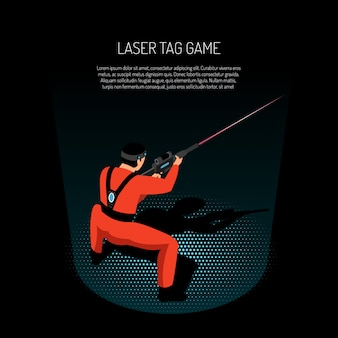 Laser tag game illustration