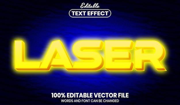 Лазерный текст, редактируемый текстовый эффект в стиле шрифта