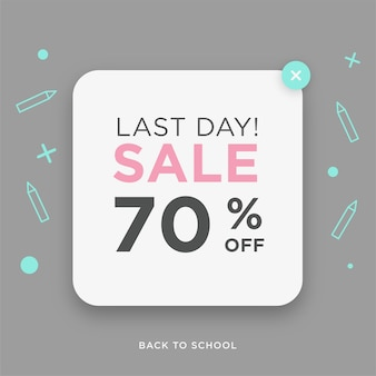 Last day sale back to school