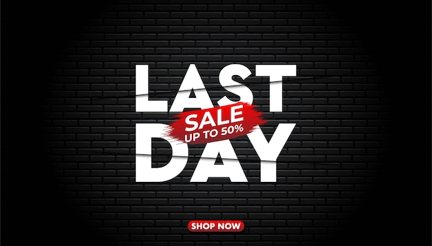 Last day sale   template.