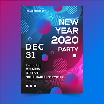 Last day of the year party flyer