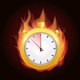 В последнюю минуту, срок концепции. векторная иллюстрация Premium векторы