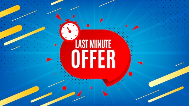 Last minute offer background