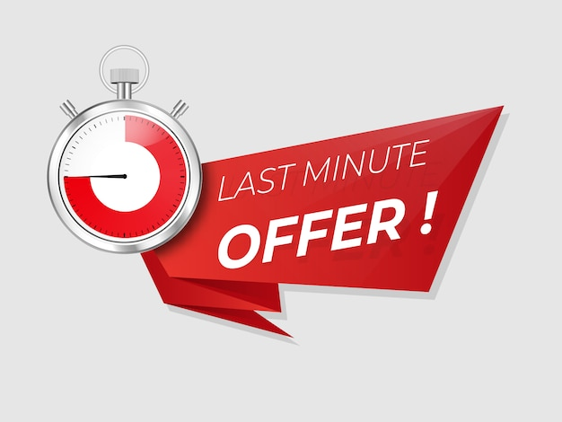 Last minute offer promo