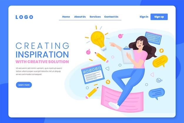 Lat creating inspiration landing page