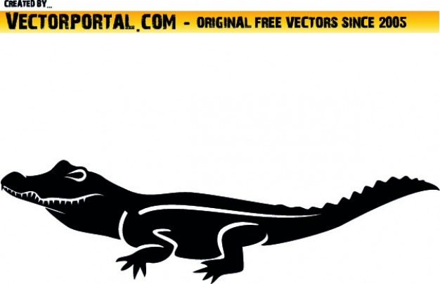 Lateral croc clipart