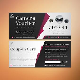 Latest Camera Voucher Card Design