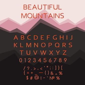Latin alphabet letters, multicolor typeface, font.