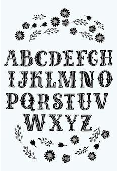 Aztecstyで作られたラテンabcとラテン文字ポスターのラテンアルファベットベクトルタイポグラフィデザインセット...